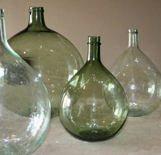 """These are Vintage Demijohn's. Can scour eBay etc. to find! OR Pottery Barn has them, """"Oversized Wine Bottles"""" in search:-)"""