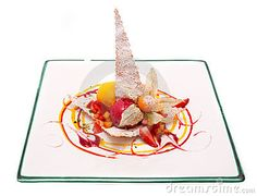 Gourmet Desserts | Gourmet desserts on a plate isolated