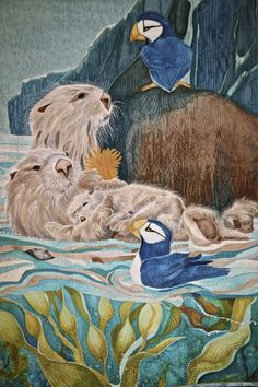 Hanging Out – by Nancy Sterett Martin, Owensboro, Kentucky, USA. 2015 Houston International Quilt Festival. Photo by Pam Holland.