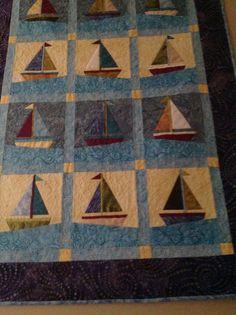 Sailboat paper piecing quilt