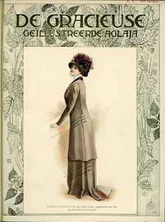De Gracieuse August 1909, Edwardian Fashion Plate