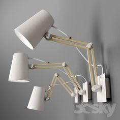 Mantra Looker wall lamp doble arm finished in white metal and wood detail. Desk Lamp, Table Lamp, Hamptons House, Wood Detail, Next At Home, Creative Decor, Restaurant Design, White Wood, Home Lighting