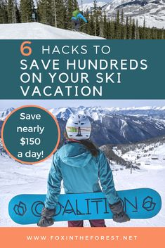 Get local knowledge on how to save money on a ski vacation. Tips for saving money when skiing. Save hundreds with these travel hacks. Vacation Savings, Ski Vacation, Travel Usa, Travel Tips, Travel Hacks, Travel Advice, Budget Travel, Travel Ideas, Travel Inspiration