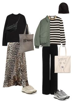 """""""Untitled #359"""" by frederikkematilder ❤ liked on Polyvore featuring Zimmermann, NIKE, Ganni, The Row, Gucci and Yvonne Koné"""
