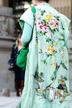 vintage kimono on Susie Lau