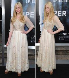 elle fanning vintage dress