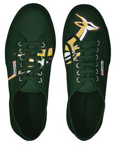Springbok rugby shoes green. Go Bokke, Rugby World Cup, Afrikaans, Logo Ideas, Superga, South Africa, Swag, My Style, Green
