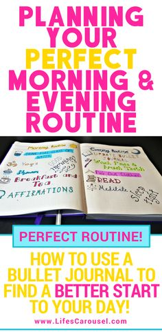 Morning & Evening Bullet Journal Routines | Using your bullet journal layout to create the perfect morning and evening routines. Track your success in your bujo with routine tracker pages. Reset Your Life!
