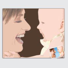Originelles und persönliches Geschenk zum Muttertag - Porträt vom eigenen Foto im Pop-Art-Stil