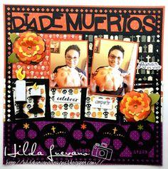 Hilda Designs: Blog Hop Friends: The Book of Life, archivos de corte de SnapDragon Snippets, sellos Latina Crafter