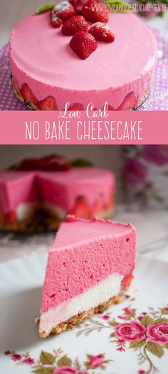 Delicious no bake cheesecake free # sugar free www.lowcarbkoestl The post Delicious no bake cheesecake free # sugar free www.lo appeared first on Daisy Dessert. Gluten Free Cheesecake, Low Carb Cheesecake, Easy Cheesecake Recipes, Dessert Recipes, Strawberry Cheesecake, Cheesecake Menu, Cheesecake Cookies, Pudding Desserts, Cheesecake Bites