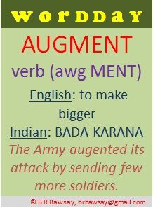Word 2 of 2, today - Augment