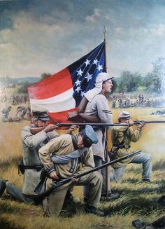 The Stars And Bars Painting by Jeff Trexler