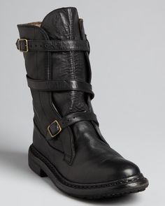 592c70bb8abd Burberry Buckled Flat Moto Boots - Explorer Shoes - Boots - Bloomingdale s