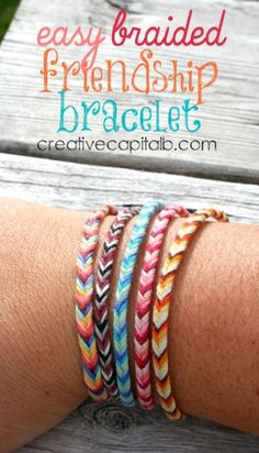 DIY Friendship Bracelets - Easy Braided Chevron Friendship Bracelet - Woven, Beaded, Leather and String - Cheap Embroidery Thread Ideas - DIY gifts for Teens Simple diamond bracelets glitter enlighten Embroidery Floss Bracelets, Yarn Bracelets, Braided Bracelets, Gold Bracelets, Fishtail Bracelet, Fishtail Braids, Embroidery Floss Crafts, Diy Braids, Bracelet Crafts
