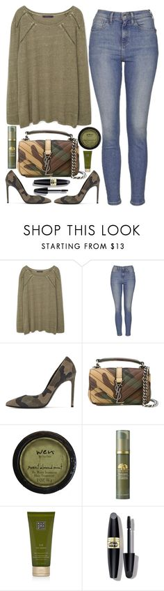 """""""street style"""" by ecem1 ❤ liked on Polyvore featuring Violeta by Mango, Topshop, Yves Saint Laurent, Origins, Rituals and Max Factor"""
