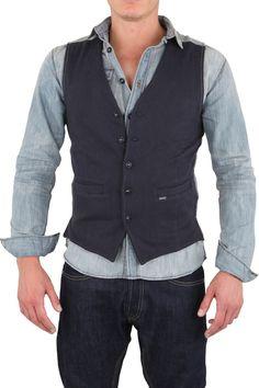 J.C. Rags Dark Navy, Vest, My Style, Jackets, Dresses, Fashion, Down Jackets, Vestidos, Moda
