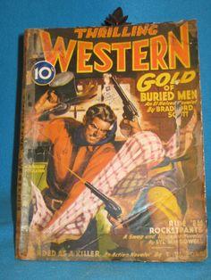 Thrilling Western January 1945 Novel, 2 Noveletes, 4 Short Stories, HistoryQuiz
