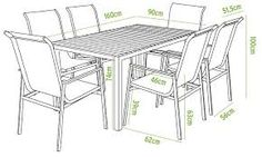 medidas mesa comedor apartamento … | Antropom…