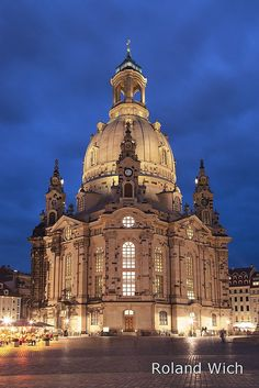 Dresden - Frauenkirche, Germany A Lutheran church rebuilt after it was destroyed by bombs and fire in 1945.