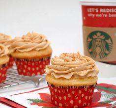 Eggnog Latte Cupcakes #coffee #recipes