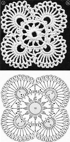 An unofficial tutorial for the flowers in my giraffe hand embroidery pattern Crochet Motif Patterns, Crochet Lace Edging, Granny Square Crochet Pattern, Crochet Diagram, Crochet Squares, Love Crochet, Irish Crochet, Crochet Doilies, Crochet Flowers