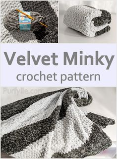 crochet yarn This super soft crochet minky pattern is easy to make. Don't be afraid of using that velvet yarn. Crochet Crafts, Crochet Yarn, Crochet Stitches, Crochet Projects, Free Crochet, Booties Crochet, Yarn Crafts, Crochet Unique, Crochet Simple