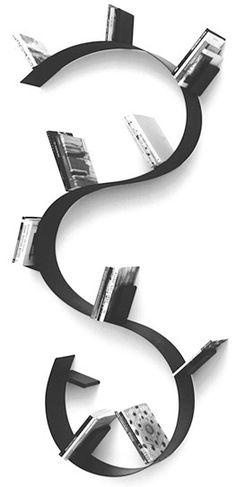 Bookworm bookshelf, Ron Arad, 1995