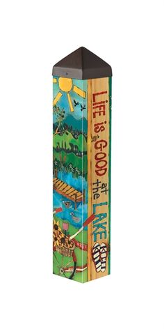 This Art Pole is a perfect way to add art to your landscape. It is a state-of-the-art reproduction of hand-painted and wood-burned cedar pole. The artwork is laminated onto a lightweight PVC pole Backyard Projects, Outdoor Projects, Outdoor Decor, Outdoor Stuff, Outdoor Ideas, Garden Projects, Backyard Ideas, Diy Projects, Peace Pole