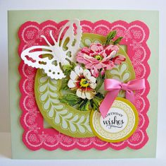 Sentiments are also included making these perfect for beautifully layered and dimensional cards and scrapbook pages.