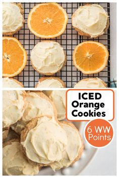 Iced Orange Cookies recipe from RecipeGirl.com #iced #orange #cookies #recipe #weight #watchers #weightwatchers #ww #RecipeGirl Healthy Cookie Recipes, Healthy Cookies, Best Dessert Recipes, Cookie Desserts, Fun Desserts, Delicious Desserts, Snack Recipes, Yummy Food, Yummy Recipes