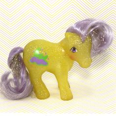 A personal favorite from my Etsy shop https://www.etsy.com/listing/498052059/vintage-g1-mlp-my-little-pony-yellow