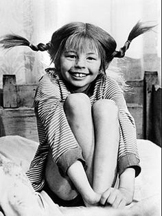 Pippi Longstocking by Astrid Lindgren - So many childhood memories Pippi Longstocking, My Childhood Memories, Old Tv, The Good Old Days, Back In The Day, Make Me Smile, The Past, Black And White, My Love