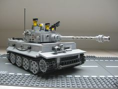 Tiger Tank with crew on road #lego