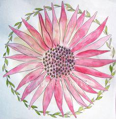 Mandala Paintings   Louise Gale Mixed Media Botanical Mandala Color Artist