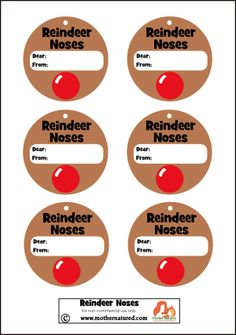 Reindeer Noses Christmas Gift Tag