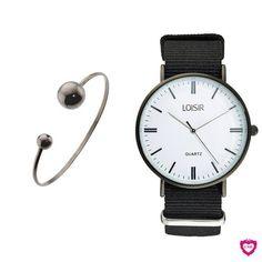 Mix 'n Match van deze prachtige zwarte armband met het fijne Campus horloge 😍. De Campus horloges zijn super fijn, gemaakt van een sterk nylon horlogebandje en maar 39,95 euro per stuk! . . .