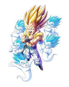 Gotenks SSJ render 3 [Bucchigiri Match] by on DeviantArt Dragon Ball Image, Dragon Ball Gt, Goten Y Trunks, Rosario Vampire Anime, Cartoon Drawings, Otaku, Anime Characters, Anime Art, Akira