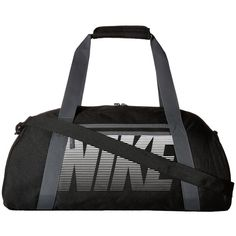 Nike Gym Club (Black/Dark Grey/White) Duffel Bags (45 CAD) ❤ liked on Polyvore featuring bags and luggage