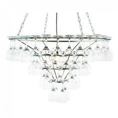 Shop the stunning 4 Tier Wine Glass Chandelier in Silver from Litecraft. You will love our range of wine glass ceiling lights with free UK delivery. Wine Glass Chandelier, Glass Ceiling Lights, Silver, Debenhams, Home Decor, Decoration Home, Money, Room Decor, Interior Design