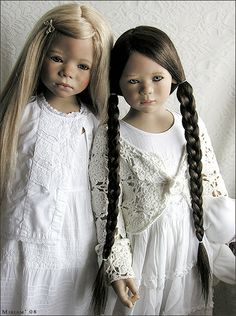 Ilsa and Monja...Monja (club doll Annette Himstedt 2005) and Ilsa (Annette Himstedt 2007)