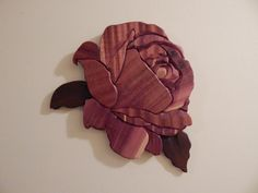 Rose by FROGIntarsia on Etsy