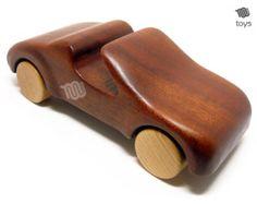 Cabrio auto giocattolo di legno