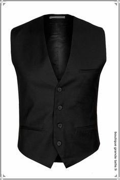 Gilet costume barman noir, boucle de serrage dans le dos taille 54 à 56.