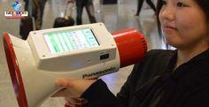 Megafone tradutor da Panasonic será usado em locais de grande concentração de estrangeiros.