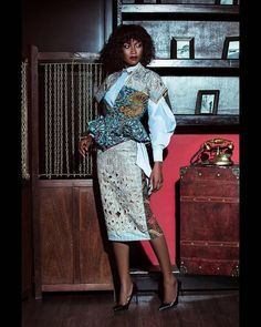 Ghanaian luxury fashion house, Christie Brown is an outstanding women's garb and accessories manufacturer and retailer with pieces ranging from lovely custom African Wear, African Women, African Dress, African Tops, African Attire, African Inspired Fashion, Africa Fashion, Posh Clothing, Professional Outfits