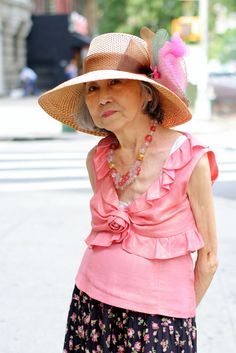 Embrace Your Age - this lovely lady is 80.  Young at heart! Never too old!. Ladies women fashion styles. Super love it!