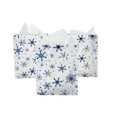 For the frozen hats   Large Clear Gift Bags with Snowflakes - OrientalTrading.com