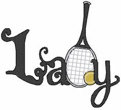 Sports Embroidery Design: Lady Tennis from Embroidery Patterns