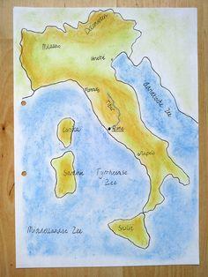 Kaart van Italië met